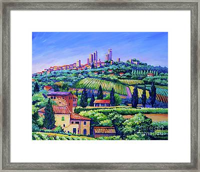 The Towers Of San Gimignano Framed Print