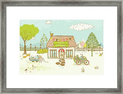 The Toy Store Framed Print