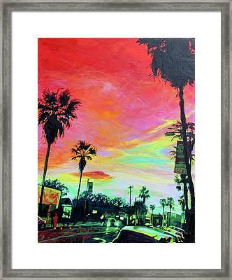 Red Night Framed Print