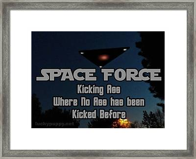 The United States . Space Force Framed Print