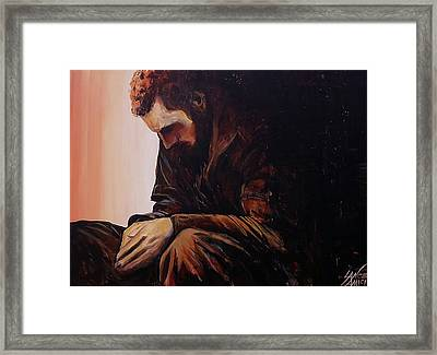 The Weight Of It All I Framed Print by Lance Amici