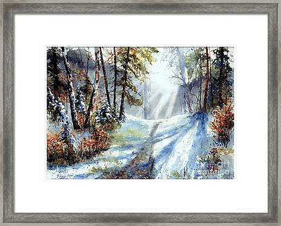 The White Light Framed Print