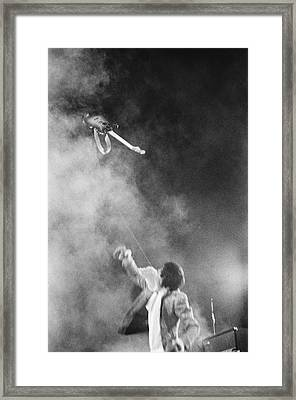 The Who Performing In Flint, Mi Framed Print by Michael Ochs Archives