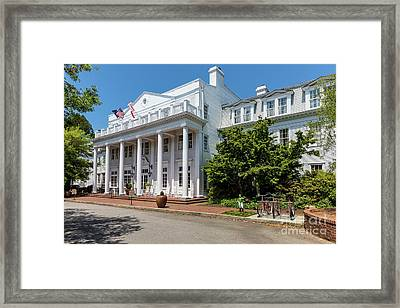 The Willcox Hotel - Aiken Sc Framed Print