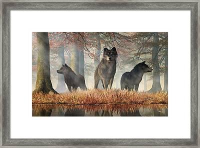 Framed Print featuring the digital art The Wolves Of Autumn by Daniel Eskridge