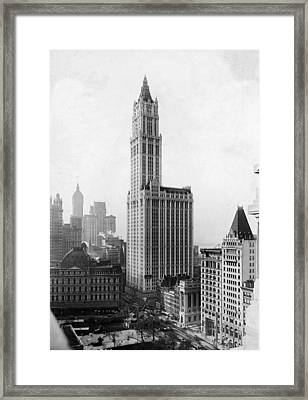 The Woolworth Building On Broadway Framed Print by Fpg