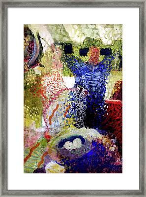 Framed Print featuring the painting The Word Was Made Flesh The Egg And I by Amzie Adams