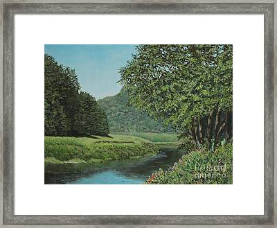 The Wye River Of Wales Framed Print