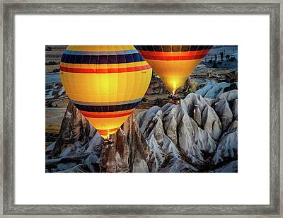 Framed Print featuring the photograph The Yellow Balloons by Francisco Gomez