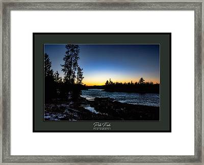 Framed Print featuring the photograph The Yellowstone River by Pete Federico