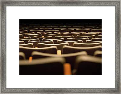 Theater Seats Framed Print