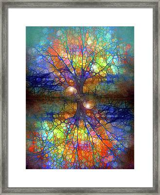 There Is Light Even In These Dark Roots Framed Print