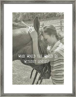 Think As One Quote Framed Print by JAMART Photography