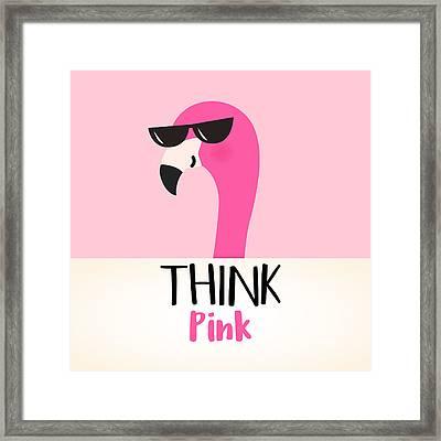 Think Pink - Baby Room Nursery Art Poster Print Framed Print