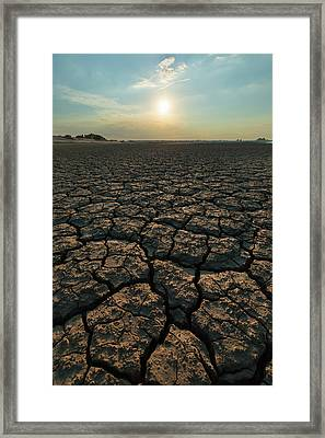 Framed Print featuring the photograph Thirsty Ground by Davor Zerjav