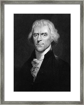 Thomas Jefferson Framed Print by Hulton Archive