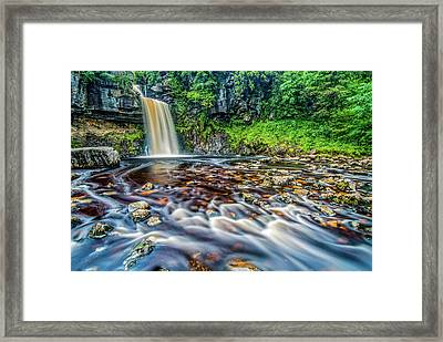 Thornton Force Waterfall Framed Print by David Ross