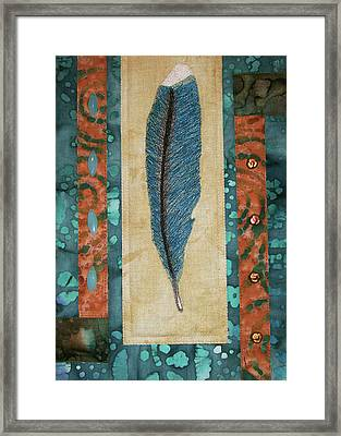 Threaded Feather Framed Print
