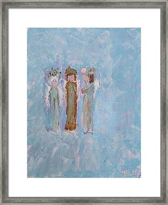 Three Friendly Angels Framed Print
