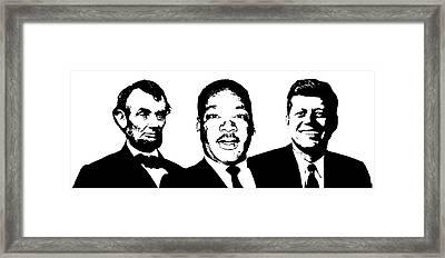 Three Leaders Framed Print