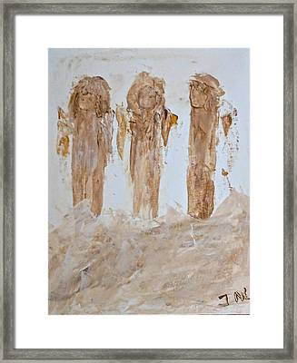 Three Little Muddy Angels Framed Print