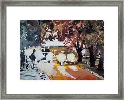 Early Morning Walk Framed Print