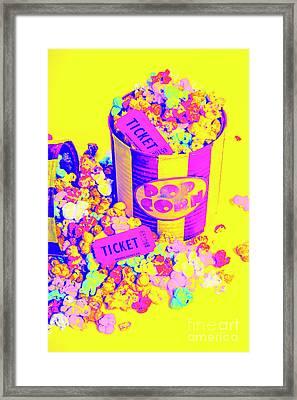 Thrills And Spills Framed Print