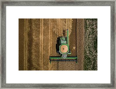 Through Wheat Framed Print