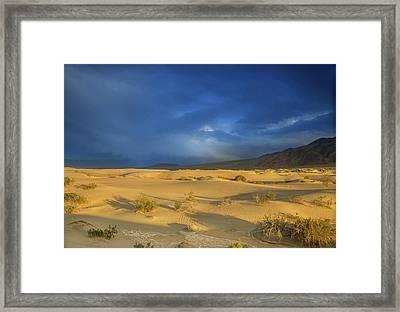 Thunder Over The Desert Framed Print