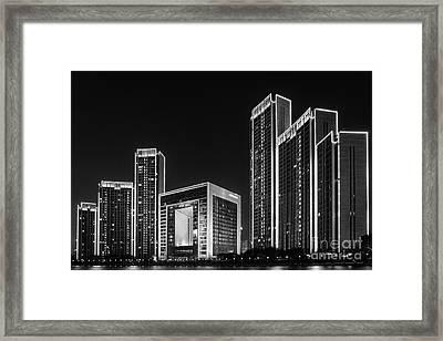 Tianjin Skyline Framed Print