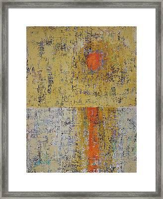 Tidepool Reflection Original Painting Sold Framed Print