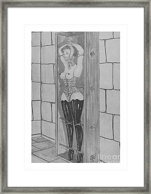 Tied In The Box Framed Print by Anonymous
