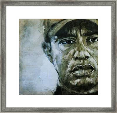 Tiger Woods - On The Road Again  Framed Print