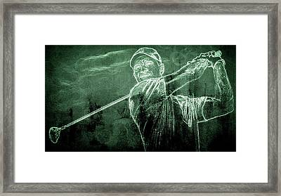 Tiger's On The Green Framed Print