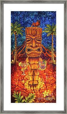 Tiki Cocktail Hour Framed Print