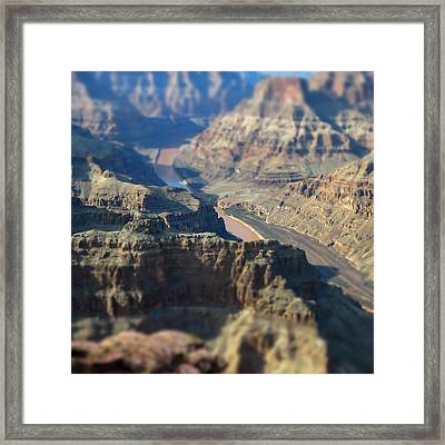 Tiltshifted Grand Canyon Framed Print