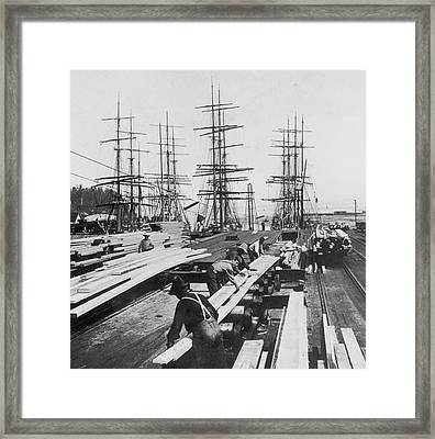 Timber In Tacoma, Washington Framed Print by Archive Photos