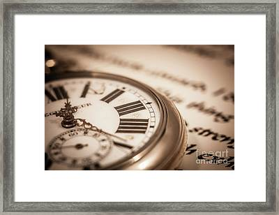 Time And Words Framed Print