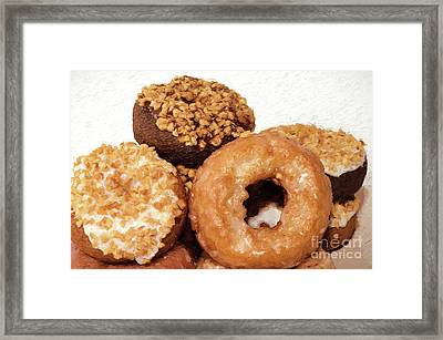 Framed Print featuring the photograph Time To Eat The Donuts by Andee Design