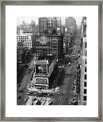 Times Square, Early 1930s Framed Print by Frederic Lewis