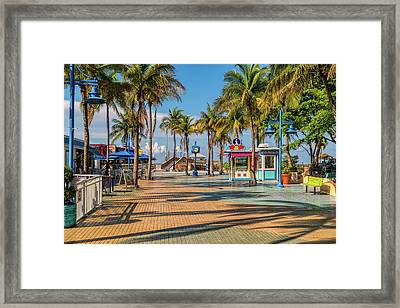 Times Square In Fort Myers Beach Florida Framed Print
