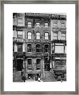 Tin Pan Alley Framed Print by Hulton Archive