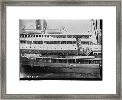 Titanic Survivors Framed Print by Topical Press Agency