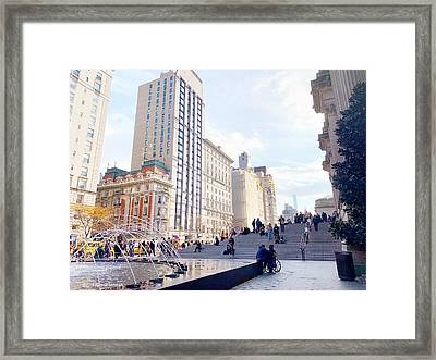 To The Met Framed Print by Maxim Tzinman