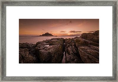 To The Sunset - Marazion Cornwall Framed Print