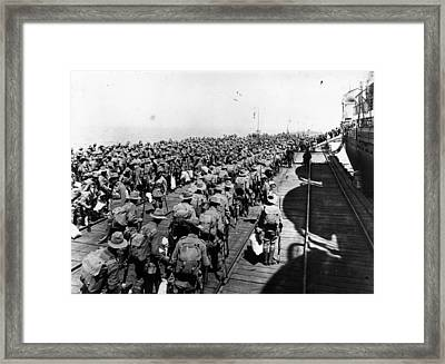 To War Framed Print by Topical Press Agency