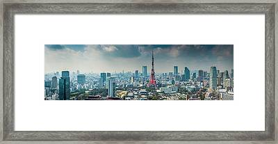 Tokyo Tower Futuristic Skyscraper Framed Print by Fotovoyager