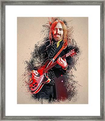 Tom Petty - 35 Framed Print