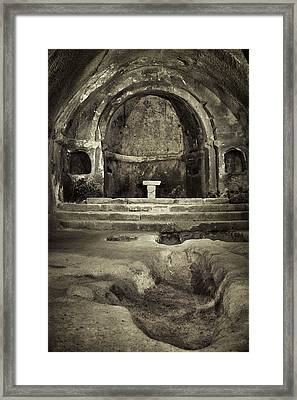 Tomb And Altar In The Monastery Of San Pedro De Rocas Framed Print