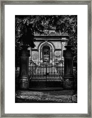Framed Print featuring the photograph Tombstone Shadow No 6 by Brian Carson